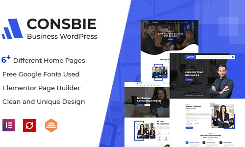 elementor business theme