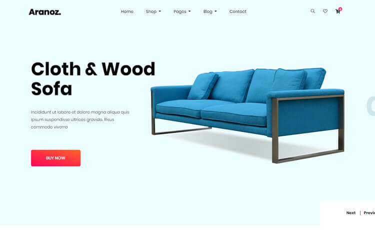 Online shopping website theme template