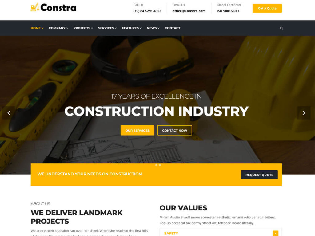 Construction Website Template
