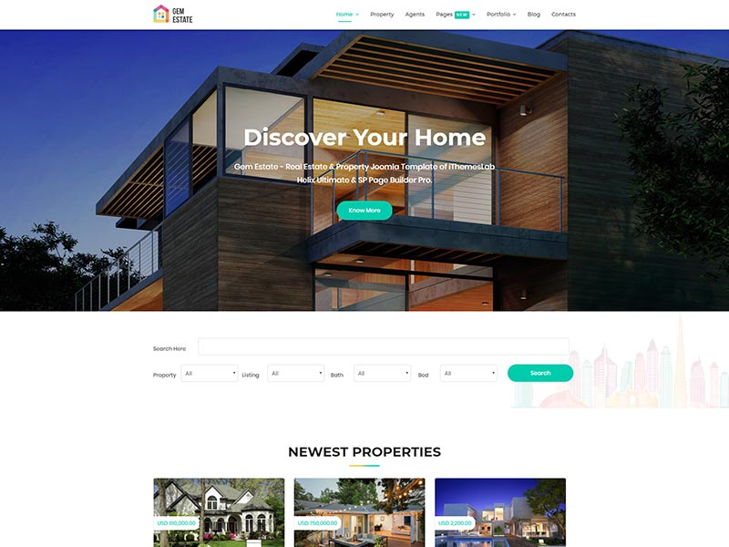 Joomla template for real estate property