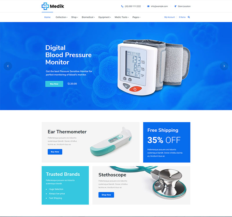 Medical woocommerce theme