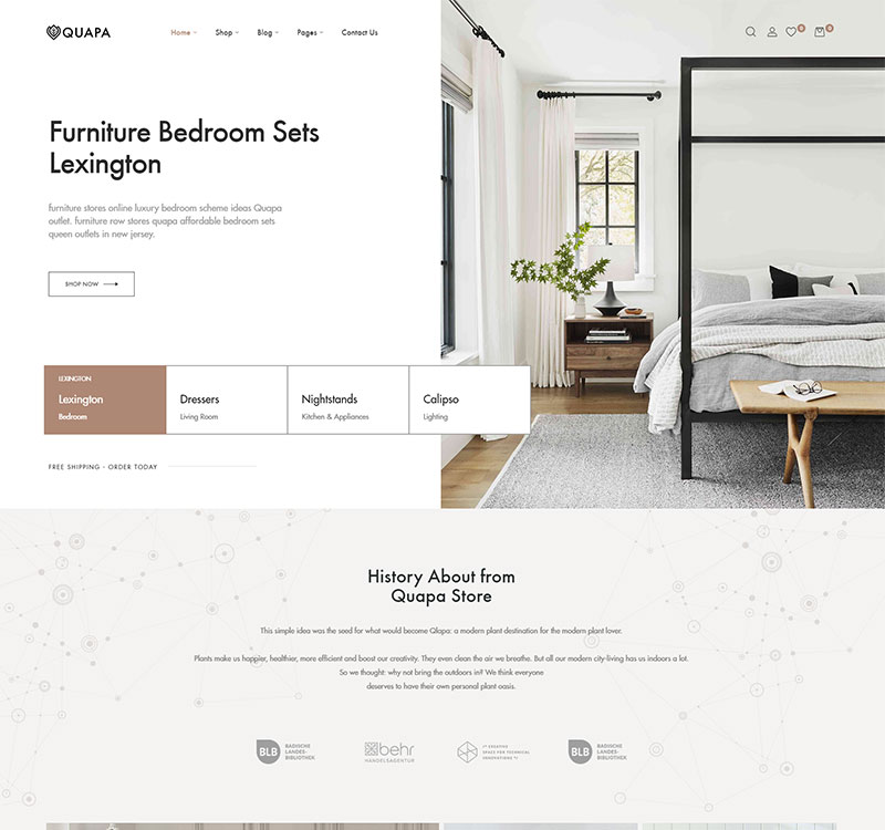 Furniture store Woocommerce themes