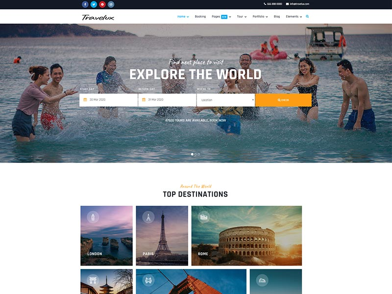 Best Joomla template for travel agency