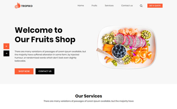 Restaurant business website Theme