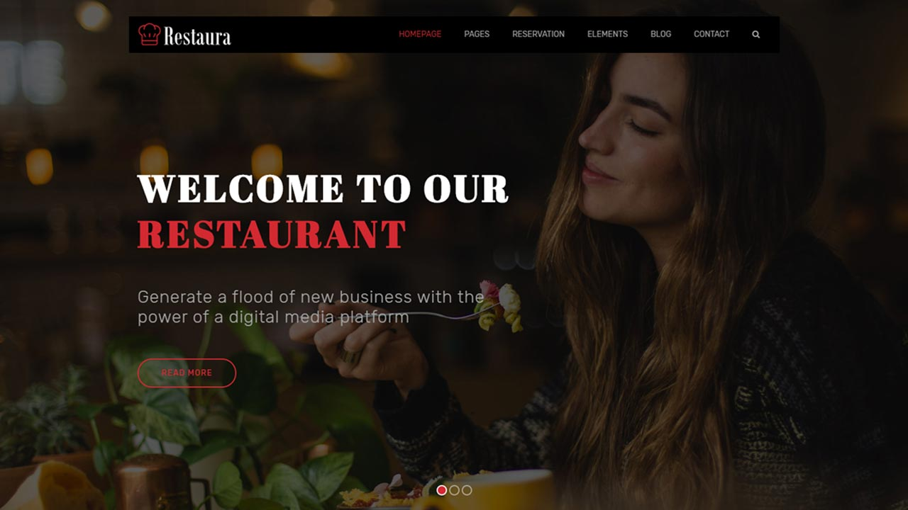 Free Restaurant Food HTML5 Bootstrap template