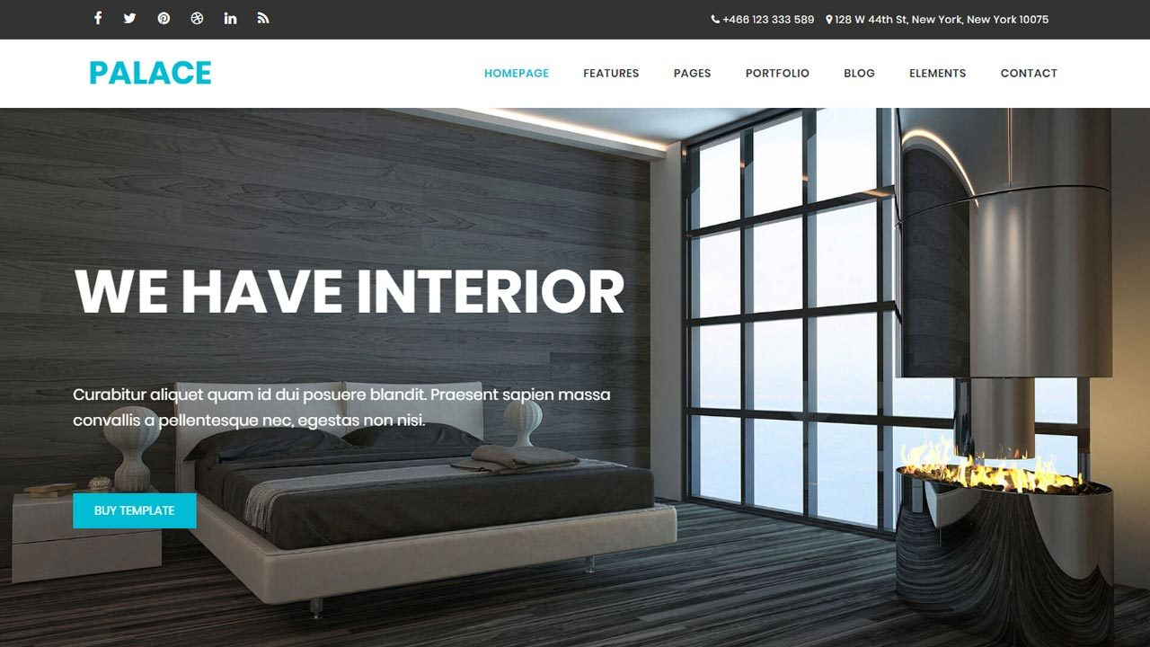 Free interior architecture business website template